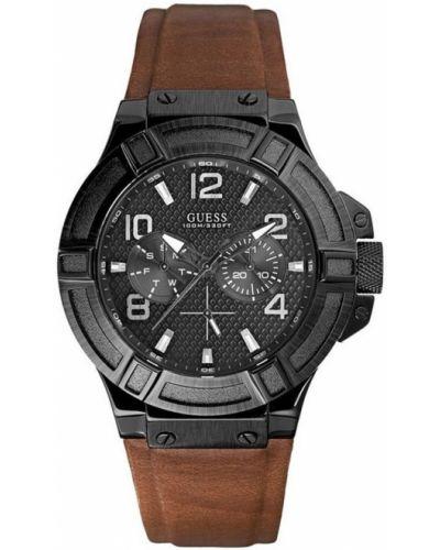 Czarny zegarek mechaniczny kwarc Guess