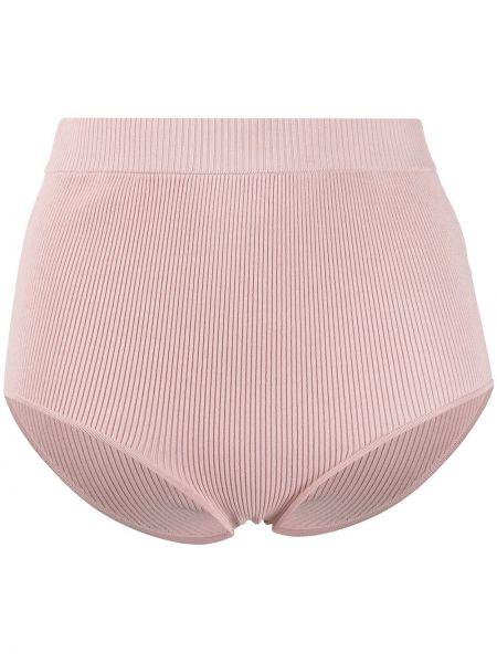 Высокие трусы розовый в рубчик P.a.r.o.s.h.