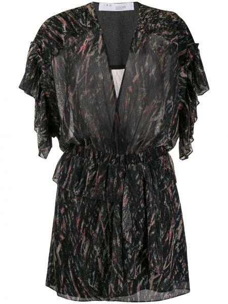 Платье мини со вставками с V-образным вырезом Iro