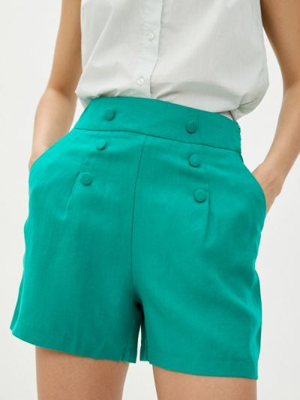 Зеленые повседневные шорты Naf Naf