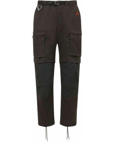 Brązowe spodnie z nylonu Nike Acg