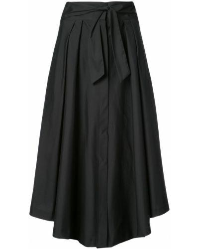 Плиссированная юбка трапеция хлопковая Milly