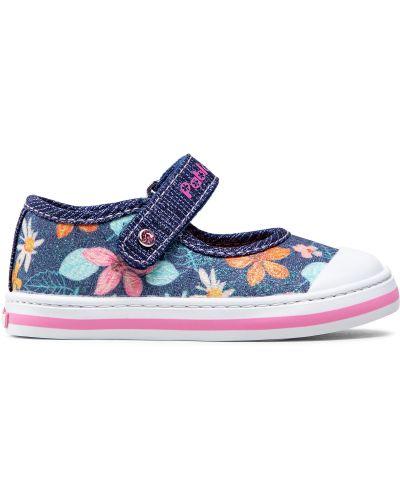Туфли на липучках - синие Pablosky