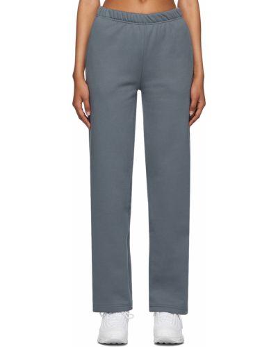 Niebieskie spodnie bawełniane Danielle Guizio