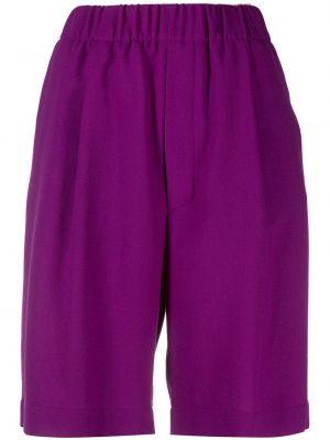 Фиолетовые хлопковые шорты с карманами Jejia