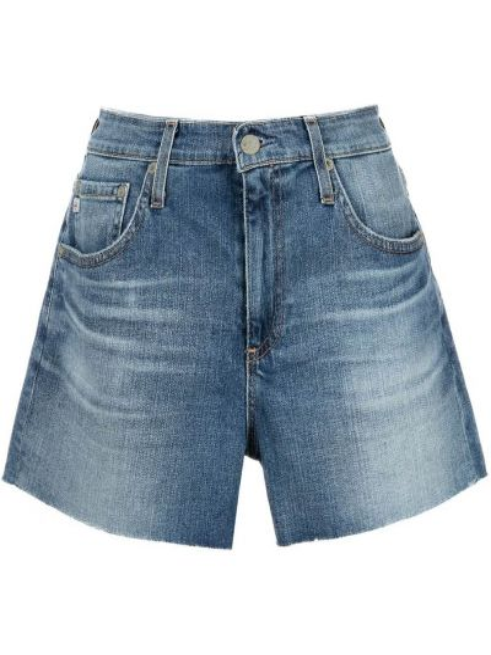 Синие джинсовые шорты классические на молнии Ag Jeans