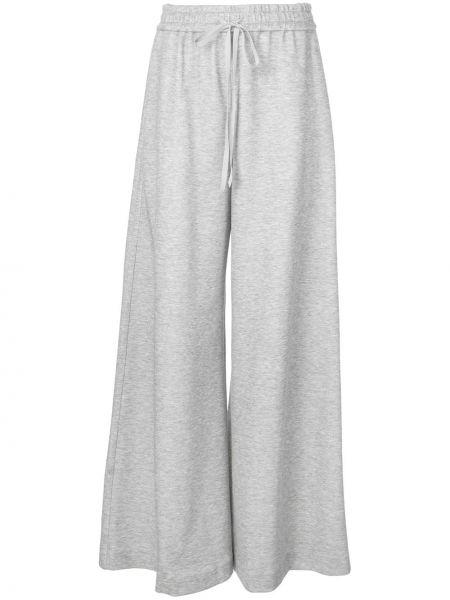 Серые свободные брюки с карманами свободного кроя на шнурках Adam Lippes