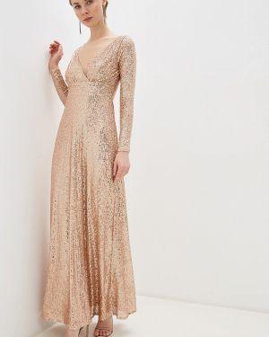 Вечернее платье осеннее золотой Goddiva