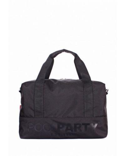 Черная спортивная сумка Poolparty