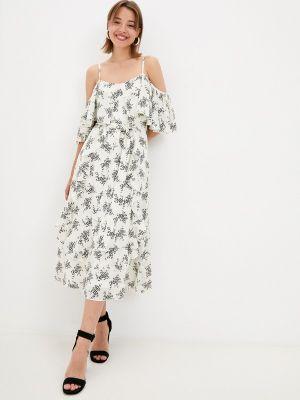 Белое платье с открытыми плечами Zibi London