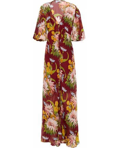 Шелковое платье макси - красное Olivia Von Halle