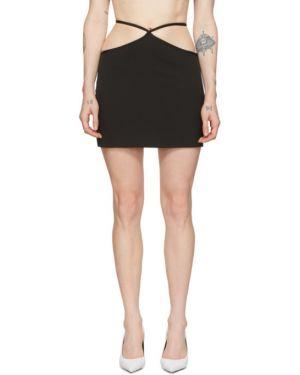 Черная асимметричная юбка мини Miaou