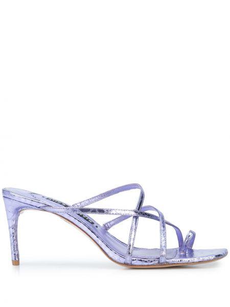 Фиолетовые с ремешком босоножки на высоком каблуке на каблуке без застежки Alice+olivia