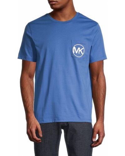 Хлопковая прямая футболка с короткими рукавами Michael Kors