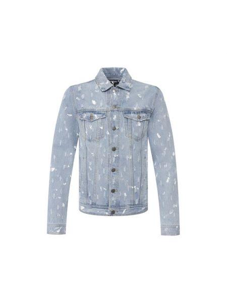 Хлопковая синяя джинсовая куртка прозрачная Dom Rebel