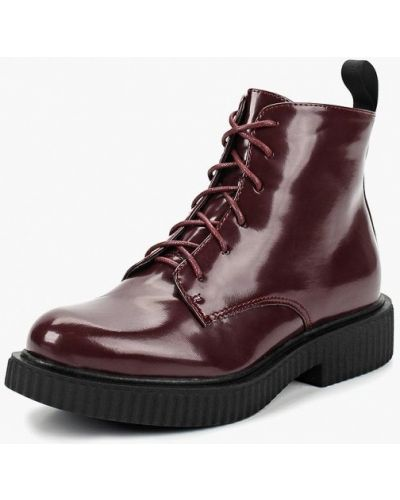 Кожаные ботинки осенние бордовые Ws Shoes