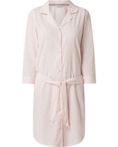 Koszula nocna bawełniana - różowa Esprit