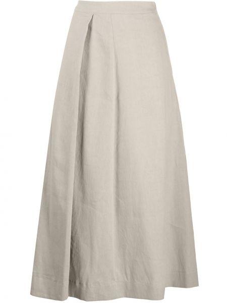 Хлопковая с завышенной талией плиссированная юбка миди Fabiana Filippi