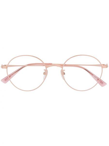 Очки хаки круглые Moschino Eyewear
