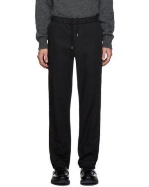 Хлопковые брючные серебряные брюки с карманами Schnaydermans