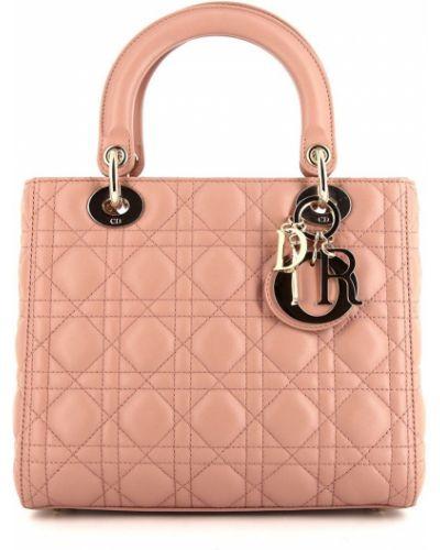 Różowa złota torebka Christian Dior