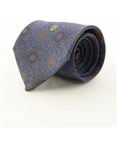 Krawat z jedwabiu - fioletowy Celine Vintage