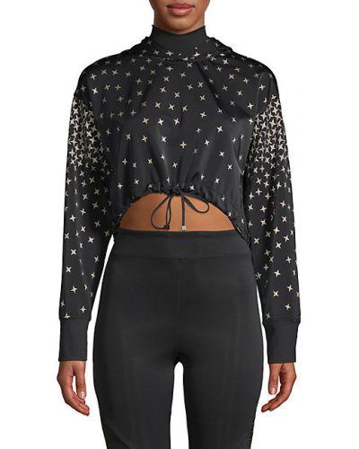 Черный свитшот с капюшоном с длинными рукавами Koral Activewear