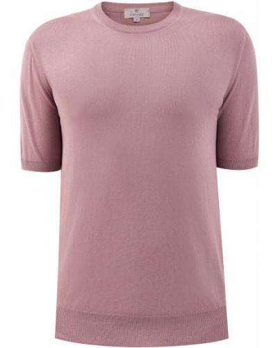 Фиолетовая хлопковая футболка с вырезом Canali