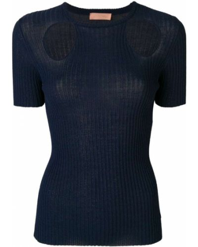 Синяя футболка из вискозы Drome