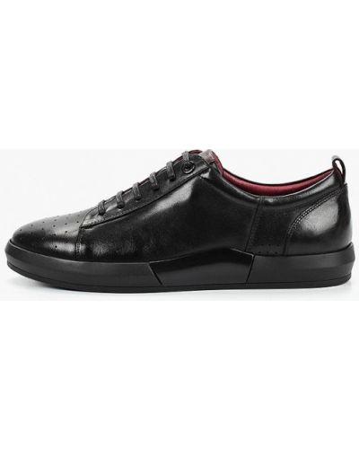 Низкие кеды черные кожаный Marco Lippi