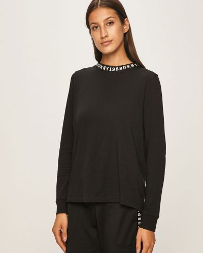 Рубашка с длинным рукавом с карманами черная Dkny