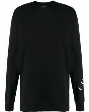 Футбольная черная футболка со стразами Odeur