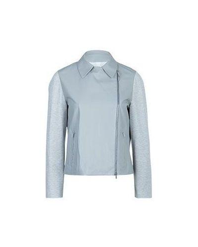 Легкая кожаная куртка - серая Fabiana Filippi