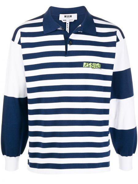 Koszula z długim rękawem wyposażone niebieski Msgm