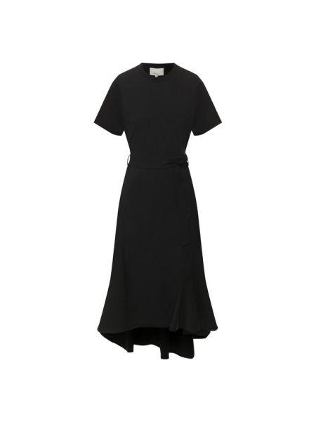 Платье с поясом со складками шелковое 3.1 Phillip Lim