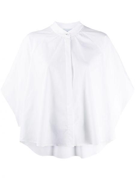 С рукавами белая рубашка с воротником на пуговицах Dondup
