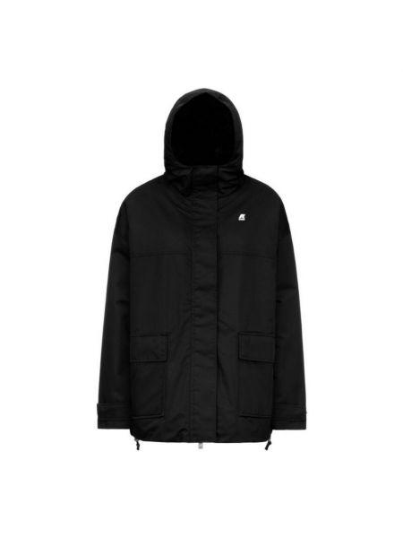 Czarny płaszcz K-way