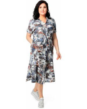 Деловое платье на пуговицах с поясом Dizzyway