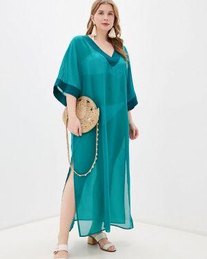 Пляжное платье осеннее зеленый Donatello Viorano