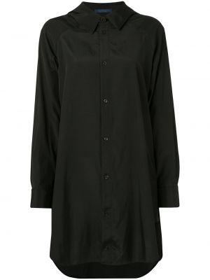 Рубашка с длинным рукавом - черная Yohji Yamamoto