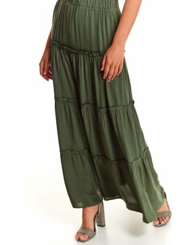 Zielona spódnica maxi z wiskozy Top Secret