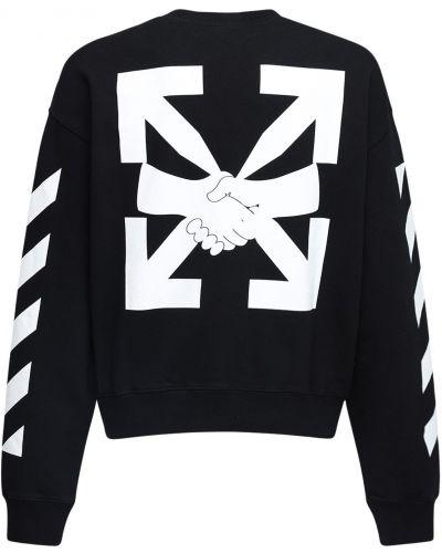 Bawełna bawełna z rękawami czarny bluza Off-white