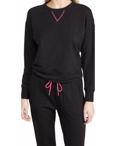 Трикотажный черный свитшот с длинными рукавами Terez