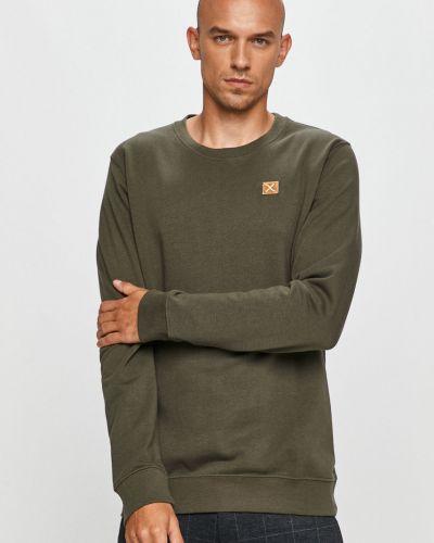 Zielona bluza z kapturem bawełniana Clean Cut Copenhagen