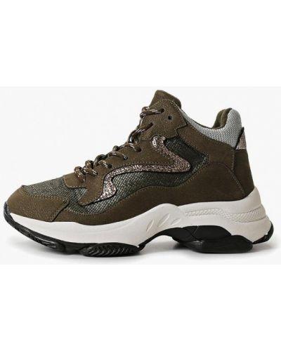 Высокие кроссовки - хаки Dino Albat