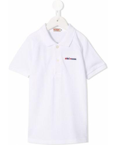 Белая рубашка на пуговицах Miki House