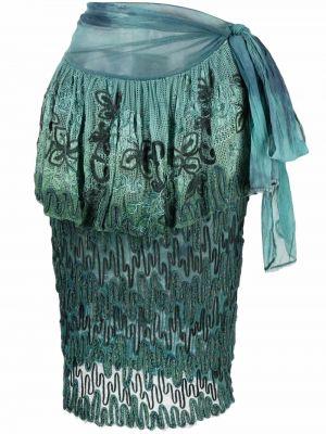 Spódnica ołówkowa bawełniana - niebieska A.n.g.e.l.o. Vintage Cult