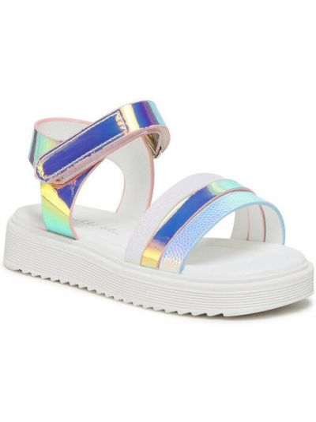 Sandały srebrne Nelli Blu