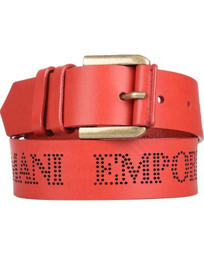 Красный ремень Emporio Armani