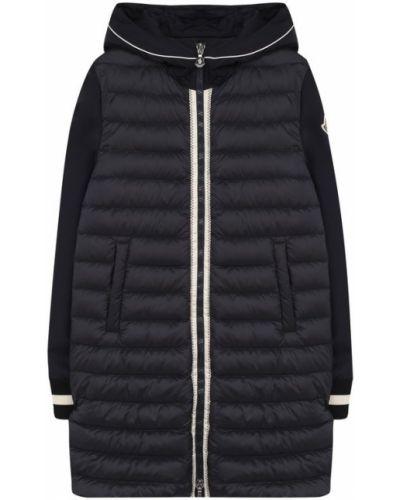 Пальто с капюшоном длинное стеганое Moncler Enfant